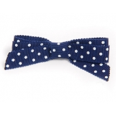 17mm Boutique Bow Navy Spot