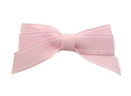 17mm Boutique Bow Pale Pink Stitch