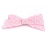 17mm Boutique Bow Pink Spot