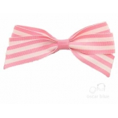 17mm Boutique Bow Pink Stripe