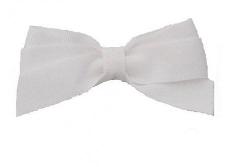 17mm Boutique Bow White