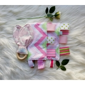 Cuddlie and Teether Set Pink