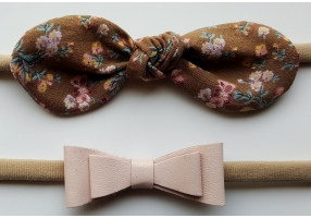 Floral Headband Set - Latte and Blush