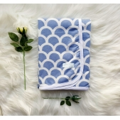 Wrap Flannelette Blue Waves