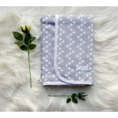 Wrap Flannelette Grey Cross
