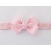 Vintage Stitch Bow Headband Pink