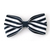 25mm Boutique Bow Navy Stripe