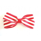 25mm Boutique Bow Red Stripe