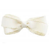 25mm Boutique Bow Vintage Stitch Cream