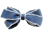 25mm Boutique Bow Vintage Stitch Navy