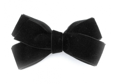 22mm Boutique Bow Black Velvet