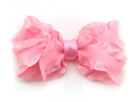 25mm Boutique Bow Candy Pink Ruffle