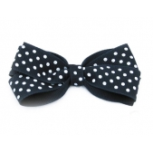 25mm Boutique Bow Navy Spot