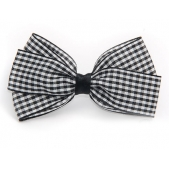 25mm Boutique Bow Black Gingham