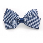 25mm Boutique Bow Navy Gingham