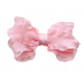 25mm Boutique Bow Pale Pink Ruffle