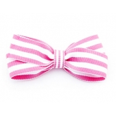 25mm Boutique Bow Pink Stripe