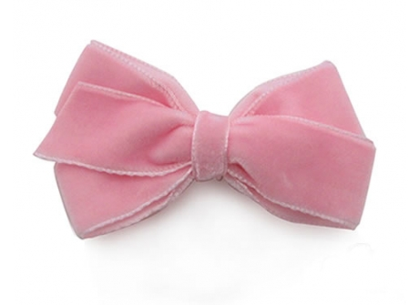 22mm Boutique Bow Pink Velvet