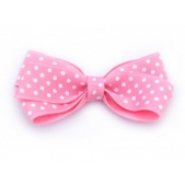 25mm Boutique Bow Pink Spot
