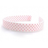 25mm Headband White Pink Spot