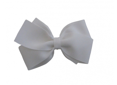 37mm Boutique Bow White