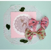 37mm Bow Vintage Roses Set