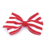 37mm Boutique Bow Red Stripe