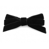 9mm Boutique Bow Black Velvet