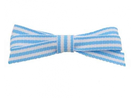 9mm Boutique Bow Blue Stripe