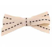 9mm Boutique Bow Ivory Black Stitch