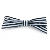 9mm Boutique Bow Navy Stripe