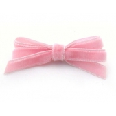 9mm Boutique Bow  Pink Velvet