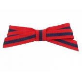 9mm Boutique Bow Red Navy Stripe