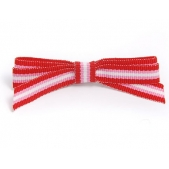 9mm Boutique Bow  Red Pink Stripe