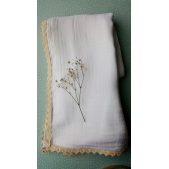 Muslin Wrap White Natural Trim