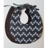 Bib Chevron Swiss Cross Charcoal