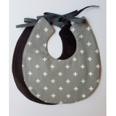 Bib Swiss Cross Grey