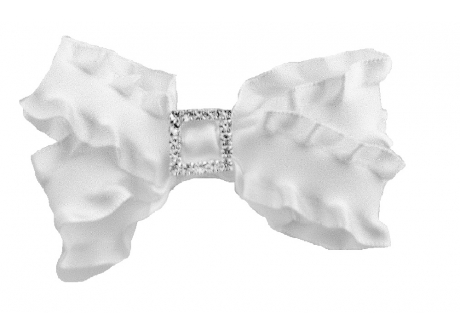 25mm Boutique Bow Ruffle with Diamante