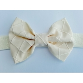 Bow Headband Silk Ivory