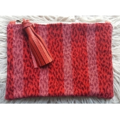 Clutch Leather & Red Velvet