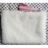 Clutch Leather & Faux Fur Pink