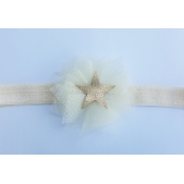 Headband Tulle Gold Star