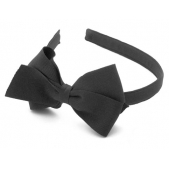 17mm Headband with Large BBow Black Grosgrain