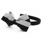 17mm Headband with Large BBow Cloudy Days Grosgrain