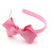 17mm Headband with Large BBow Pink Grosgrain