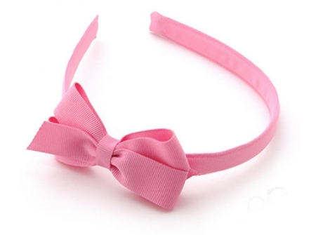 17mm Headband with Medium Bow  Pink