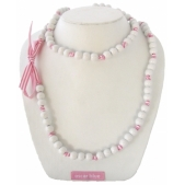 Knotted Mini Bead Necklace White