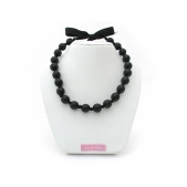 Knotted Bead Necklace Black