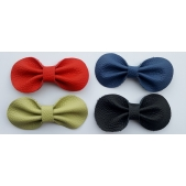 Emma Leather Bow Solids