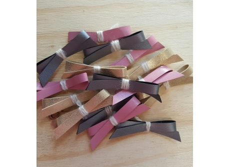 Leather Bow Clips